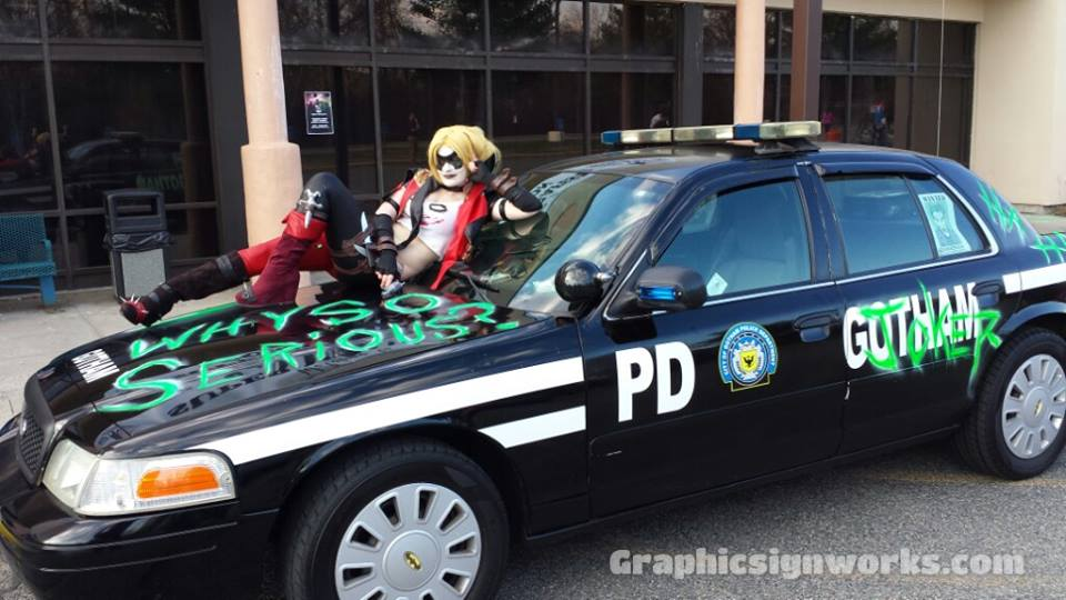 Joker Gotham City Police Car Super Megafest Comic Con